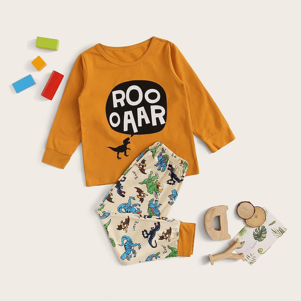 Пижама с оригинальным принтом для мальчиков