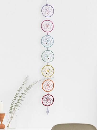 7-ring Colorful Woven Dream Catcher