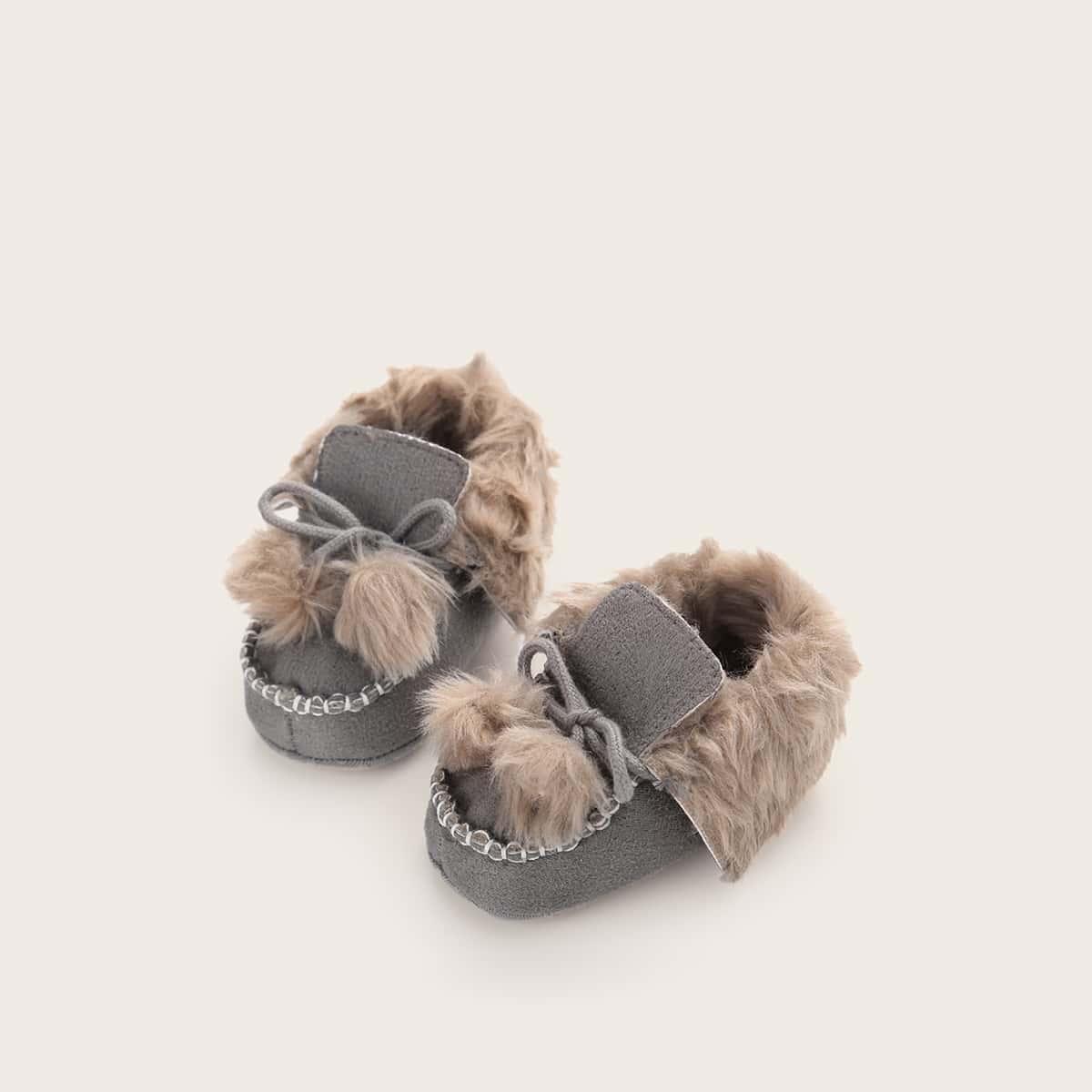 shein Grijs Comfortabel Baby platte schoentjes