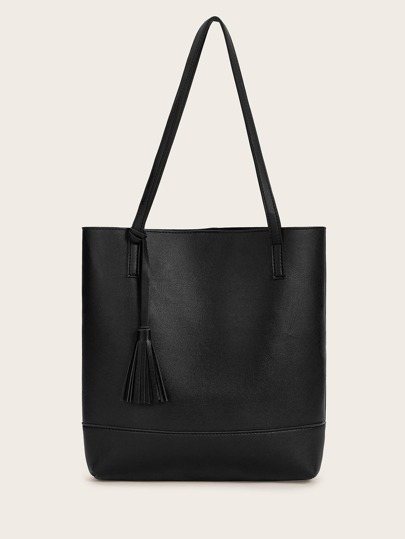 Tassel Decor Tote Bag