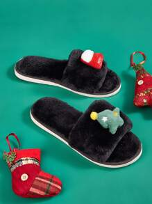Christmas Design Fluffy Slippers