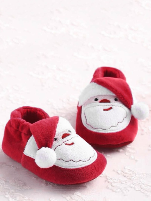 Christmas Baby Boy Santa Claus Flats