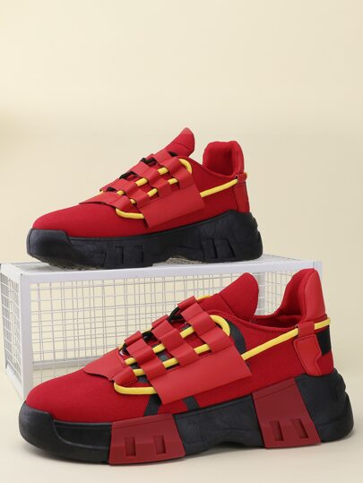 Guys Lace-up Front Wide Fit Sneakers
