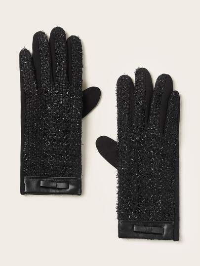 1pair Tweed Gloves