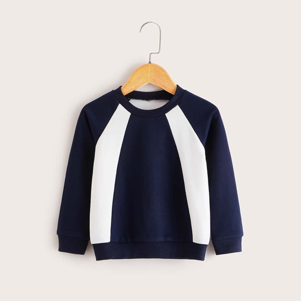 Toddler Boys Cut And Sew Sweatshirt, Multicolor