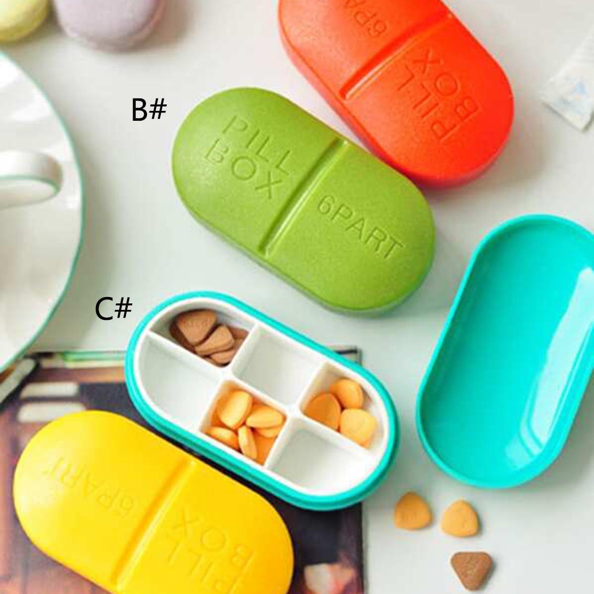 Scatola di stoccaggio per pillola a forma di capsula 1 pezzo