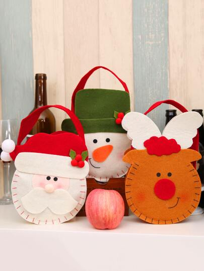 1pc Cute Santa Claus Portable Candy Bag