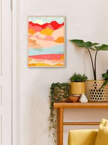 Abstract Mountain Wall Art Print Without Frame
