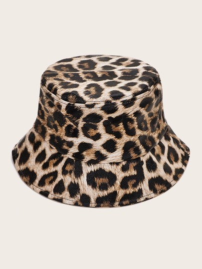 Leopard Pattern Bucket Hat