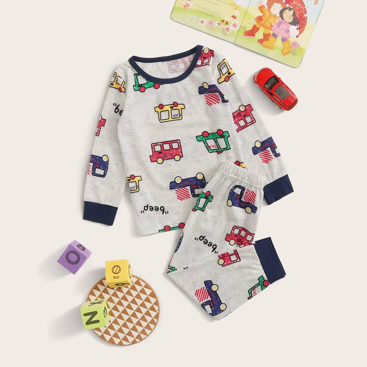 Пижама с принтом кота для мальчиков