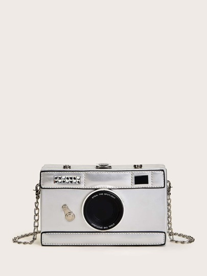 Camera Design Chain Crossbody Bag