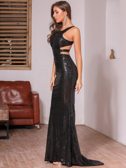 DKRX Backless Bodycon Sequin Dress