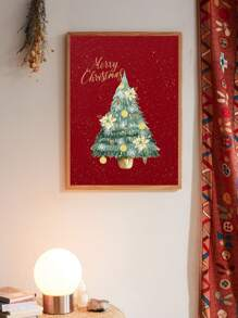 Christmas Tree Wall Art Print Without Frame