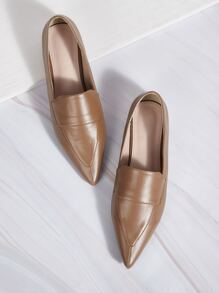 Point Toe Flat Smoking Shoes