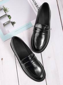 Patent Wide Fit Flat Loafers