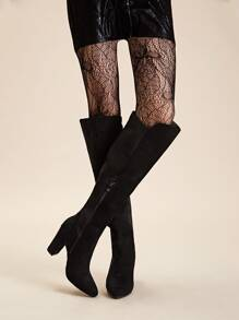 Point Toe Side Zip Knee High Boots