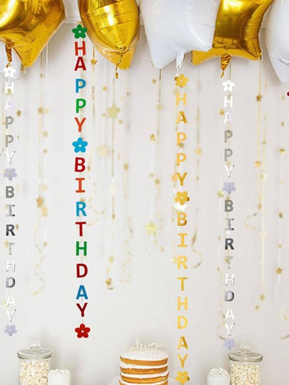 1pc Letter Design Balloon Hanging Garland