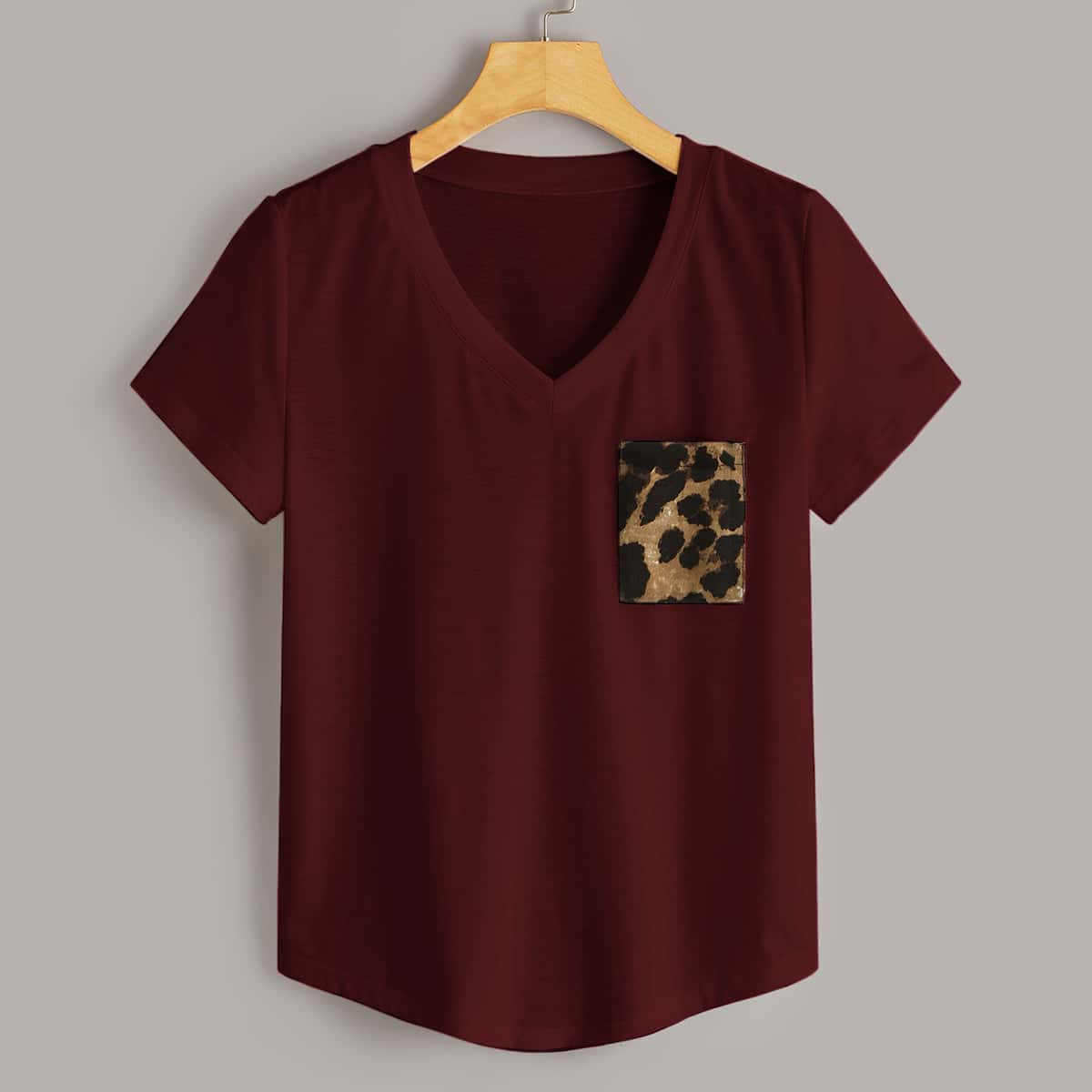 Bordeaux Casual Luipaard T-shirts