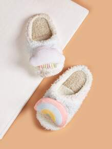 Cloud Decor Fluffy Slippers
