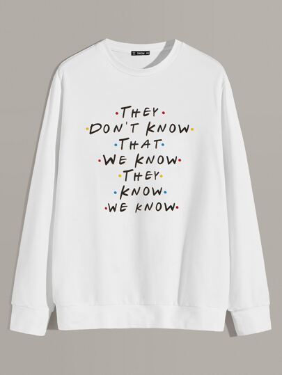 Guys Slogan Graphic Pullover