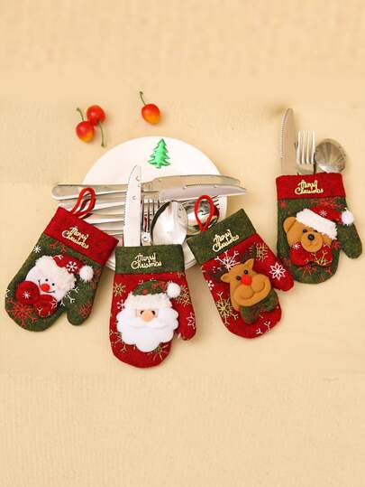 1pc Christmas Cutlery Holder