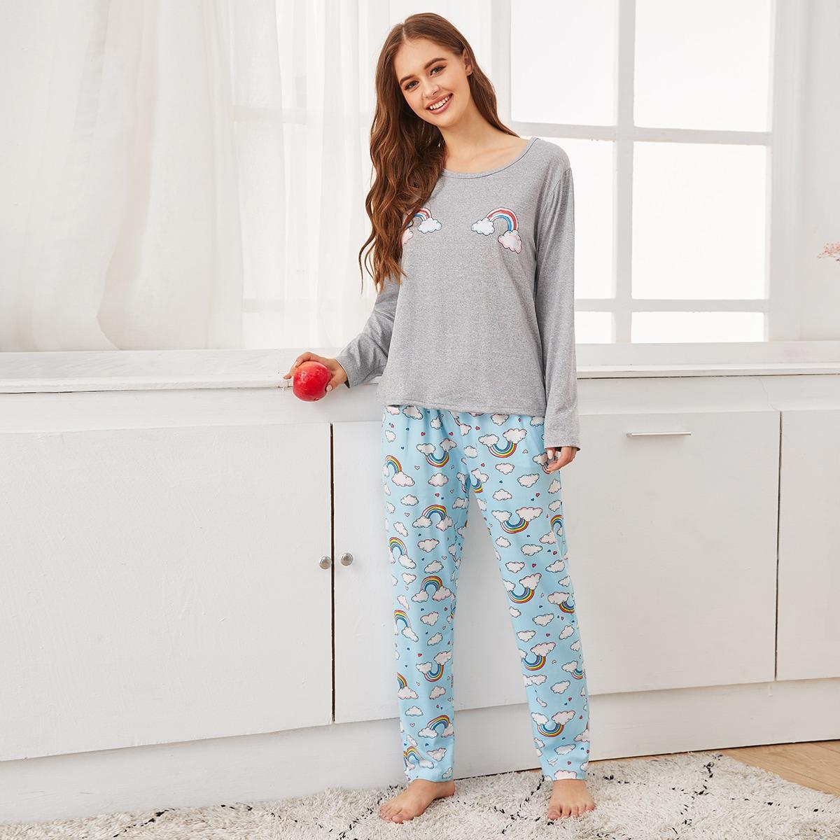 Радужная полосатая пижама