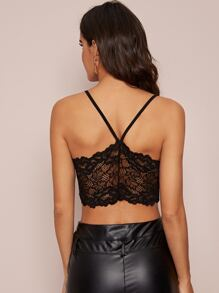 Lace Back Crop Cami Top