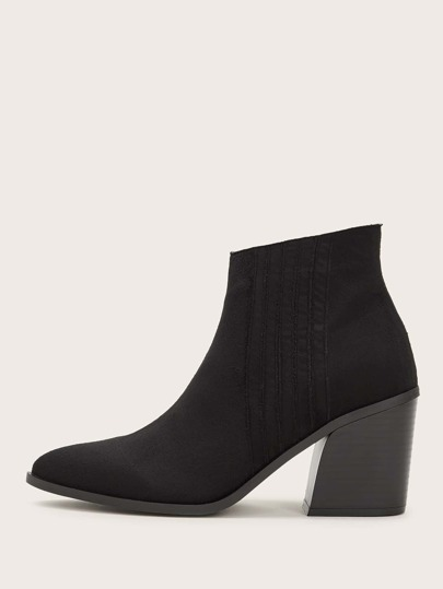 Point Toe Side Zip Chelsea Boots