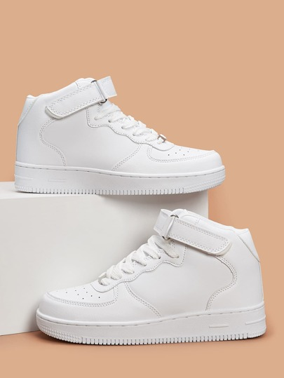 Perforated Detail Velcro Strap Sneakers