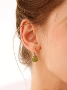 1pair Simple Round Earrings