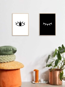 1pc Simple Eye Wall Art Print Without Frame