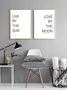1pc Simple Slogan Wall Art Print Without Frame