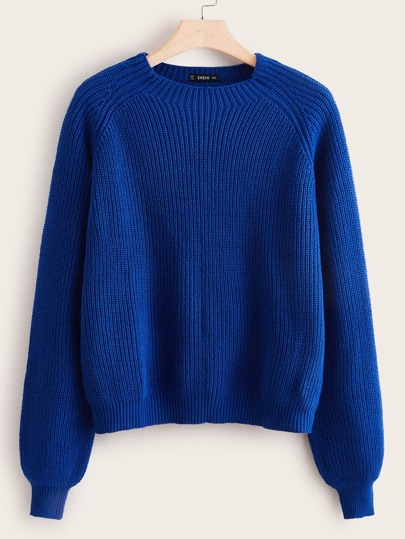 Plus Raglan Sleeve Solid Sweater