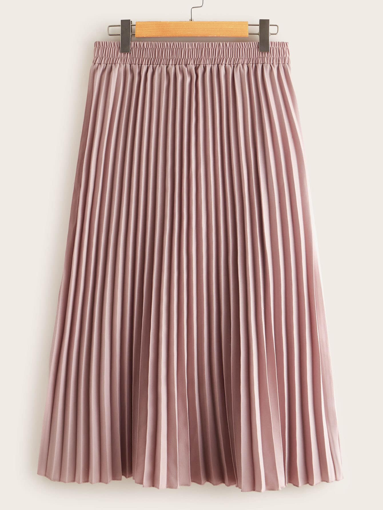 jupe pliss e taille lastique shein