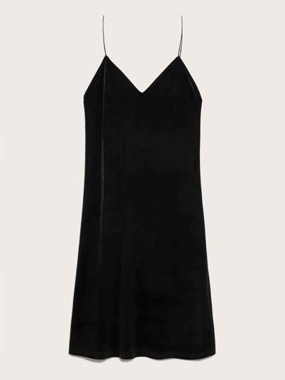 Solid Sleeveless Midi Cami Dress