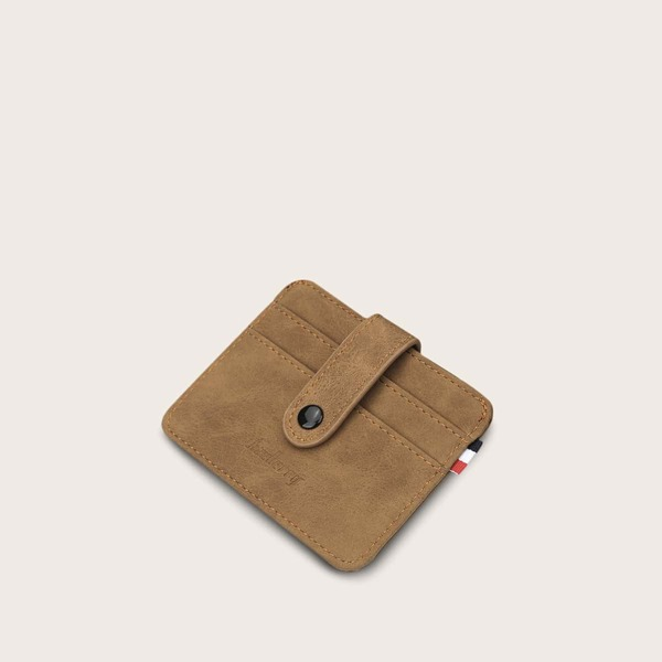 Men Minimalist Card Holder, Khaki