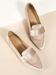 Point Toe Flat Smoking Shoes - $20.00