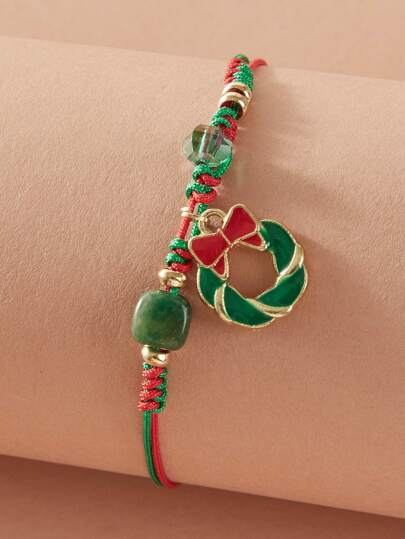 1pc Wreath Charm Braided Bracelet