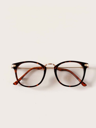 Tortoiseshell Frame Glasses With Case