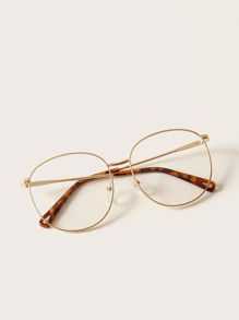 Metal Frame Glasses With Case