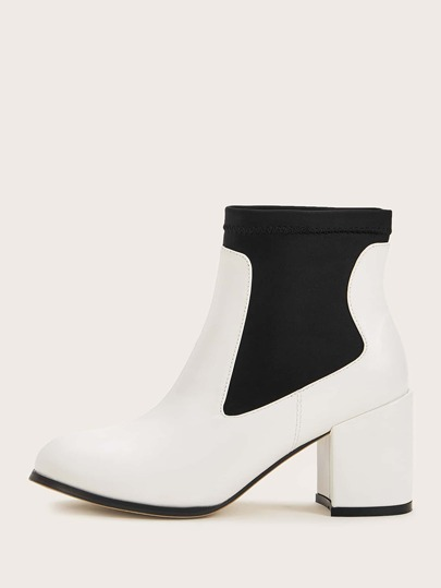Two Tone Chunky Chelsea Boots
