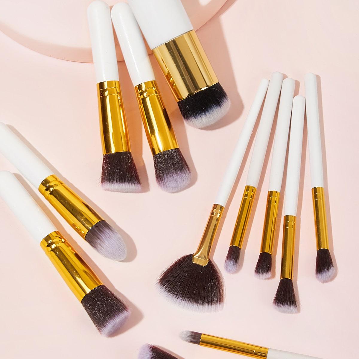 12шт веерообразные кисти для макияжа