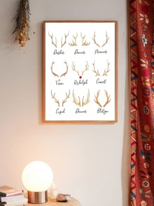 Antlers Wall Art Print Without Frame
