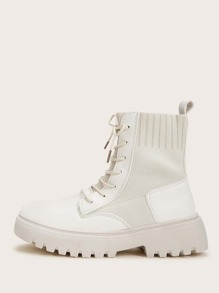 Lace-up Front Lug Sole Boots