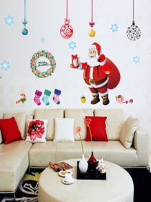 Santa Claus Print Wall Sticker