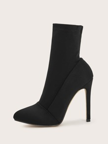 Point Toe Stiletto Sock Boots