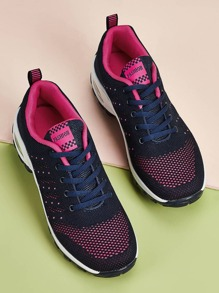 Lace-up Knit Chunky Trainers