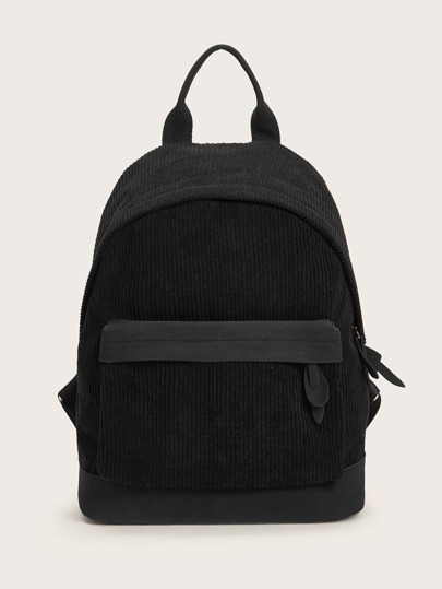 Pocket Front Corduroy Backpack