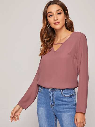 V-cut Front Solid Top