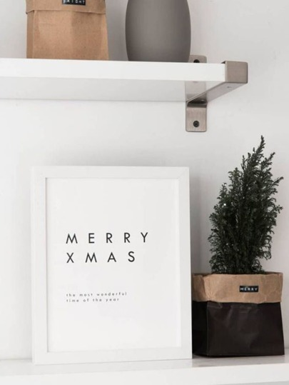 Christmas Slogan Wall Art Print Without Frame